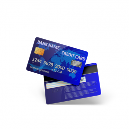 Plastic bank cards